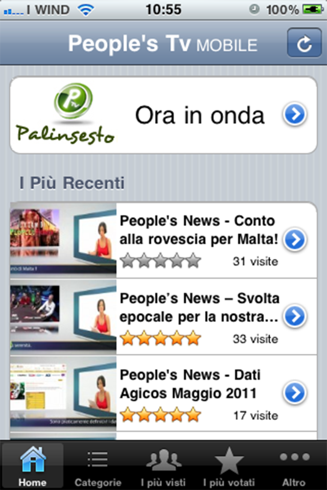 Screenshot People's Tv Mobile